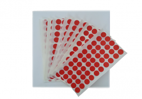 red dot and cards (t)